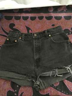 Black Levi denim shorts