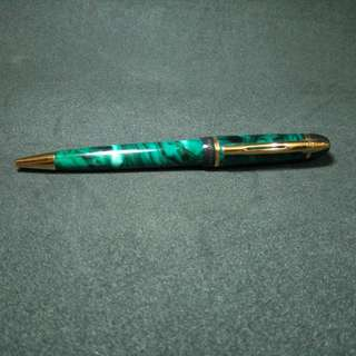 Waterman Phileas Green Marble Ballpoint Pen. New, never used