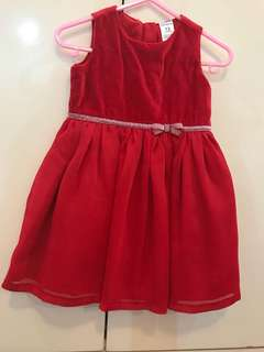Carters Red Party Dress with Diaper Cover x Gingersnaps x Peppermint x Periwinkle x Zara