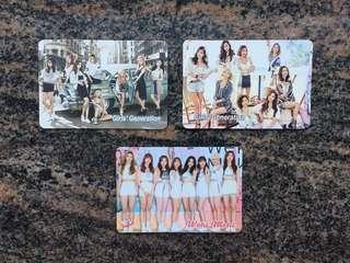 Yes card 女團 少女時代 SNSD  Girls Generation 金簽 Weki Meki $5一張 (所有yes card最少買四張)