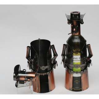 A pair of  Metal Wine Holder