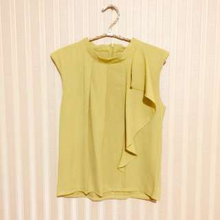 Lime sleeveless top