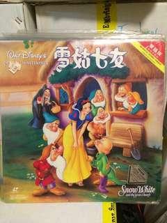 Snow White LD disney 雪姑七友 雷射光碟