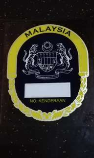 Malaysia Windscreen Sticker Blue Yellow