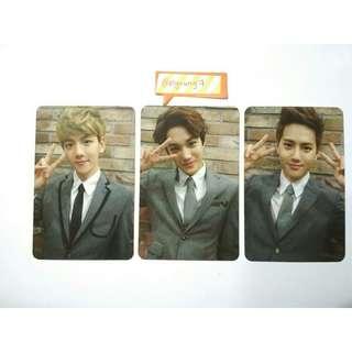 EXO Growl Type A Kai / Baekhyun / Suho Official Korea Press Photocard