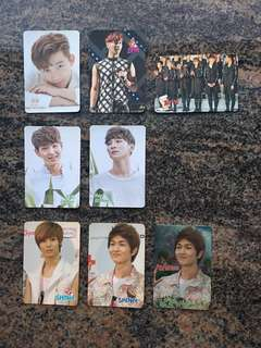 Yes card 男團 2PM 澤演 SHINee 温流 Key 珉豪 泰民 閃底卡 $5一張 (所有yes card最少買四張)