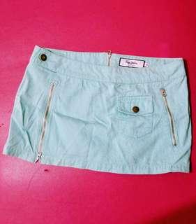 Pepe Jeans - Mint Green Mini Skirt