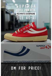 SUPERGA COTU PANATTA (Red White Champagne)