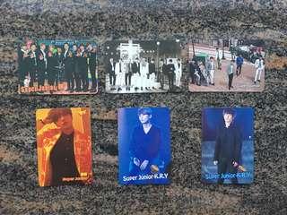 Yes card 男團 Super Junior / M / K.R.Y / 藝聲 厲旭 $5一張 (所有yes card最少買四張)