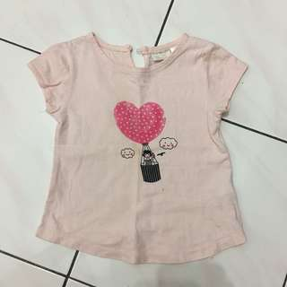 Zara Pink T-Shirt 1-3yrs