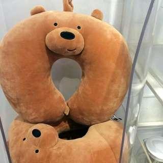 authentic miniso we bare bear u neck pillow