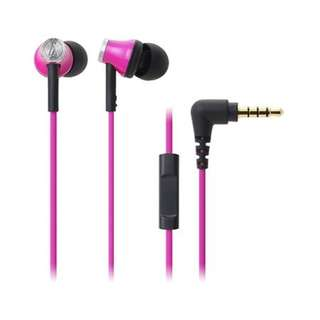 Audio Technica ATH-CK330iS Inner-Ear Headphones (Pink)