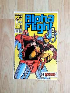 Marvel Comics Alpha Flight 53 Near Mint Condition  Second Jim Lee Marvel Work