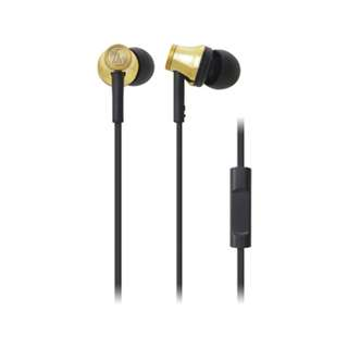Audio Technica ATH-CK330iS Inner-Ear Headphones (Gold)