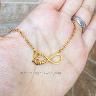 Stainless Steel Love Infinity Necklace