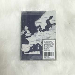 World map passport cover