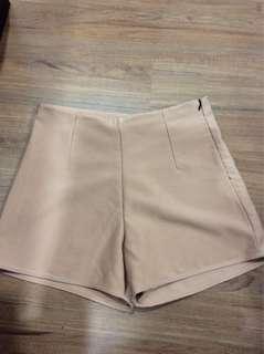 Nude High Waisted Shorts