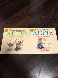 🚚 New Alfie's alphabet and Alfie's numbers by Shirley hughes