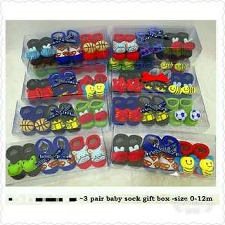 3D Baby Socks (3pairs in 1)