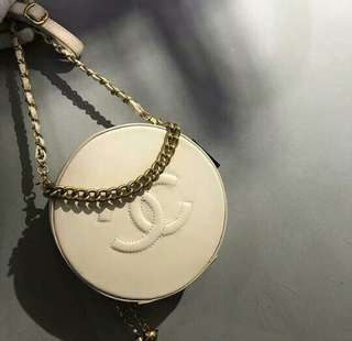 Chanel Round As Earth Evening Bag Vanilla Color