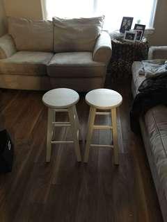 2 Small bar stools