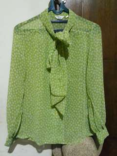 Green Blouse Vintage
