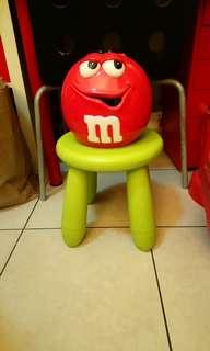 全新M&M's紅M大陶瓷罐/儲物罐