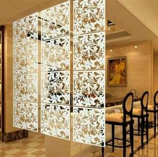 Dekorasi penyekat ruangan vintage bahan PVC