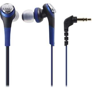 Audio-Technica ATH-CKS550 SOLID BASS Inner Ear Headphones Blue