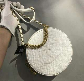 Chanel Round As Earth Lizard White Color