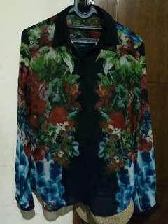 Blouse Floral Black
