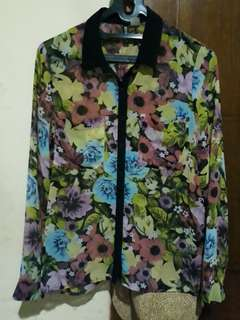 Blouse Floral Yellow