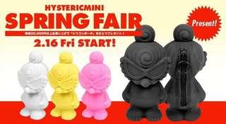 日本 hysteric mini 3D 矽膠 雜物包 col pink 2018 spring fair 粉紅色 1個