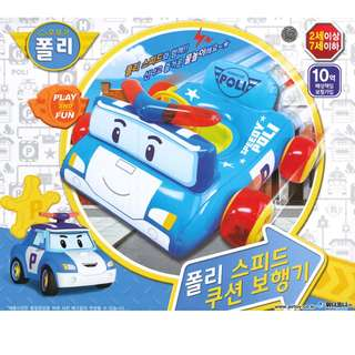 🚚 (Free Delivery) Robocar Poli Blue Speedy Poli Inflatable Baby Float Swimming Ring Seat with Steering Wheel