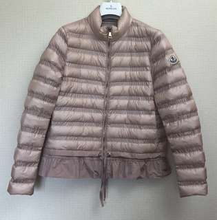 Moncler Jacket 粉色薄羽絨 1號