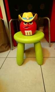 全新M&M's紅警長造型陶瓷罐/儲物罐