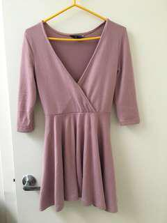 Pink sweater dress s/m