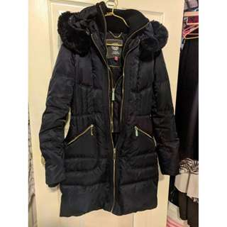 Vince Camuto - Navy Blue Winter Jacket with Cuffs & Inner Zip