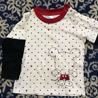 Mickey mouse long sleeve tshirt
