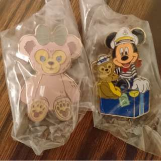 Disney pin trade Duffy Mickey 罐pin 變色龍 小飛象 白兔 Iron Man 花蛋 Shelliemay Alice Zootopia Nick 葛士華 旋轉杯 Minnie 會員 三次入園 Gelatoni Stellalou starter
