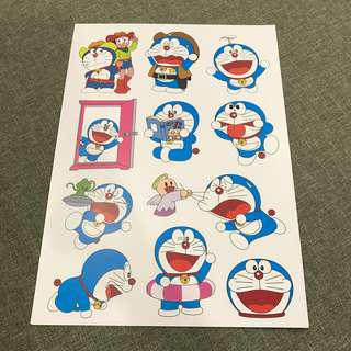 A93 Doraemon- Luggage/ notebook/ guitar / laptop stickers