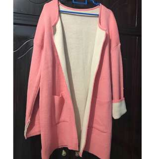 WOMEN KNITTED WINTER OR SPRING JACKET / COAT / CARDIGAN
