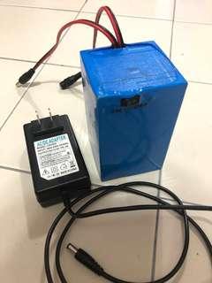12volt Custom Li-ion Battery 15000mah