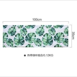 北歐熱帶雨林植物蓋墊桌巾100*35