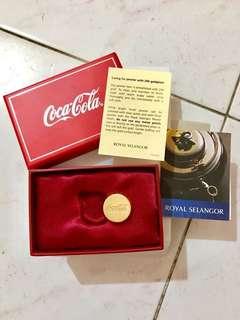 CocaCola 24k goldplate (Royal Selangor Pewter)