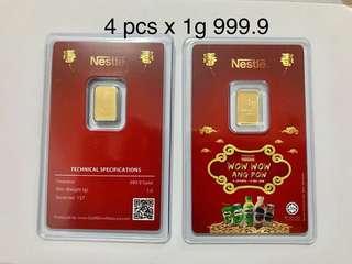 Gold Bar 1g 999.9 Gold
