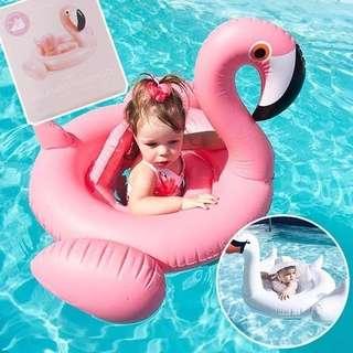 🚚 寶寶 游泳圈 天鵝 火鶴 造型 座圈