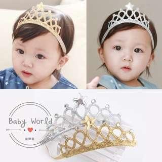 🚚 現貨 髮帶 寶寶 皇冠造型 小公主 小王子 髮飾