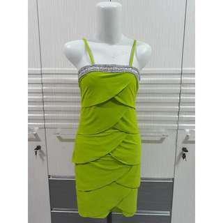 Bodycon dress hijau mata2