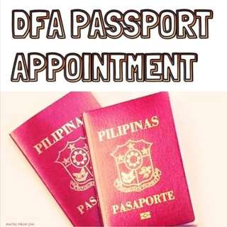 Passport appontment assistance